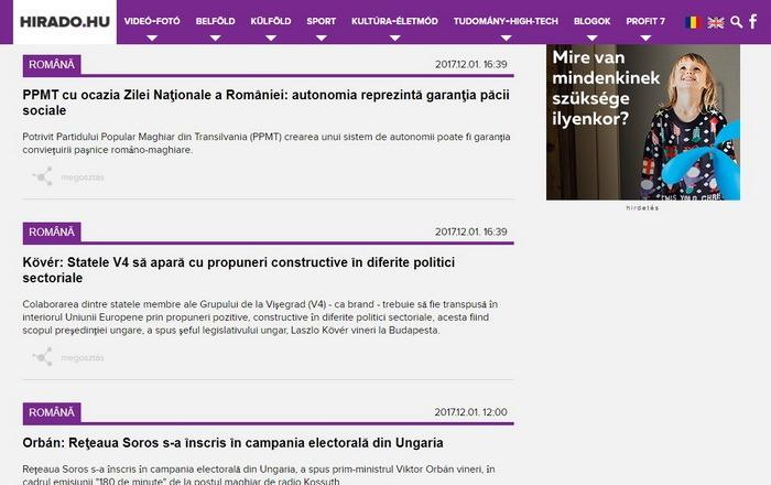 Agenţia oficială de ştiri din Ungaria a lansat un flux în limba română: Primele articole, despre reţeaua Soros şi libertatea naţională pentru maghiari