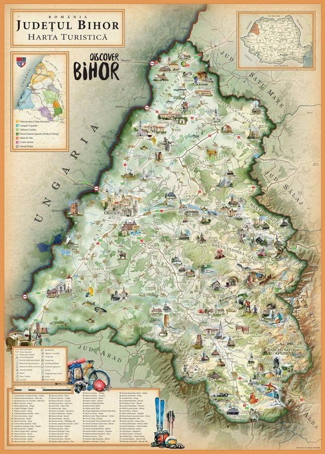 Poftiti In Vizita A Fost Realizata Harta Turistica A Judetului Bihor