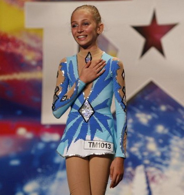 Ioana Roxana Rotar - gimnasta din Oradea la Romanii au Talent.JPG