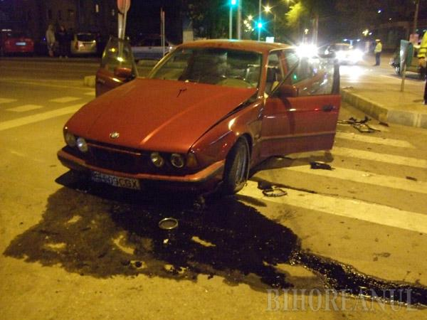 Accident spectaculos: BMW contra BMW