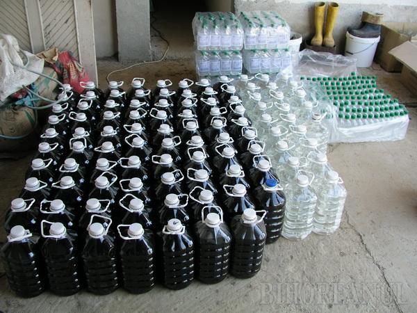 Au fabricat şi distribuit peste 150.000 de litri de alcool contrafăcut