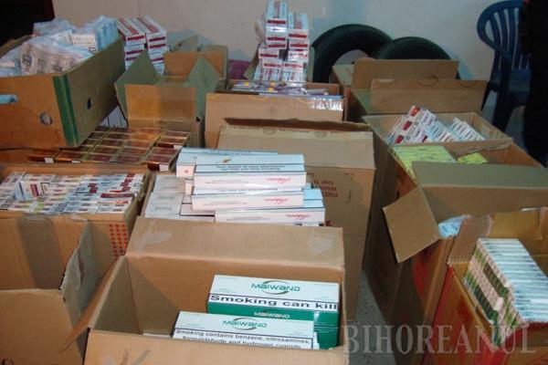 Ţigări de contrabandă, în valoare de peste 100.000 lei, scoase din pieţele orădene
