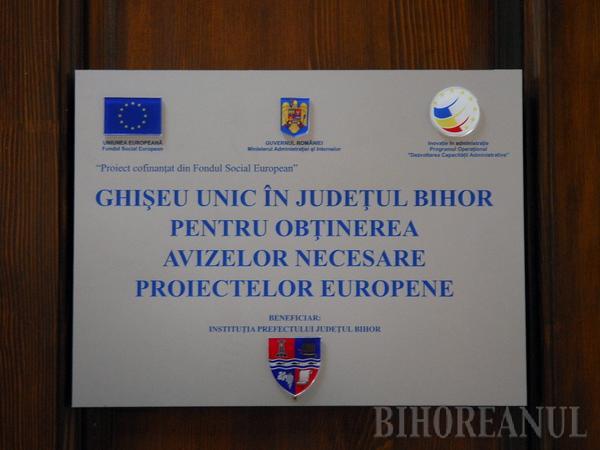 Prefectura a inagurat Ghişeul Unic pentru obţinerea avizelor necesare proiectelor europene