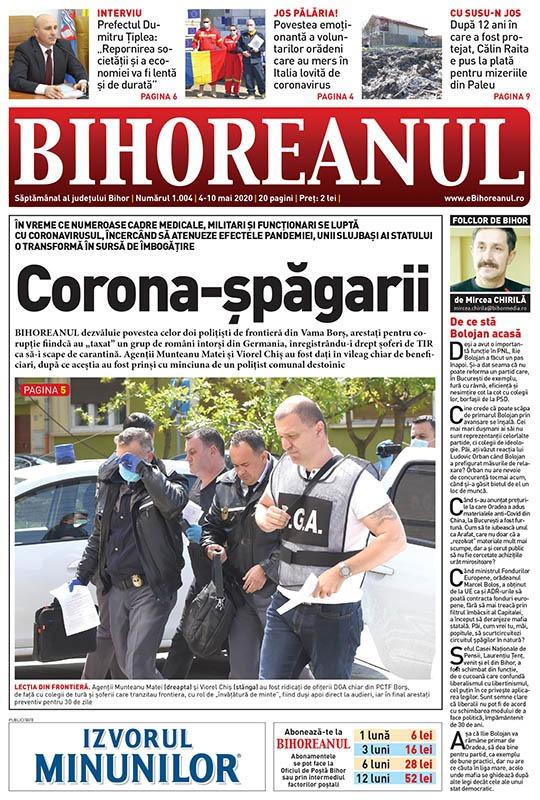 Nu ratați noul BIHOREANUL tipărit! De ce au fost arestați cei doi polițiști de frontieră din vama Borș