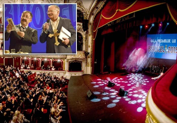 """DE TOATE PENTRU TOŢI: Gala Premiilor lui Bihorel a fost, după unii, """"evenimentul monden al anului"""", reunind la Teatrul Regina Maria personalităţi din toate domeniile, de la oameni de afaceri şi politicieni, până la şefi de instituţii, omeni ai legii, jurnalişti, pur şi simplu, prieteni. Spectacolul a durat 3 ore, timp în care s-a ascultat muzică de calitate şi s-a râs cu gura până la urechi..."""