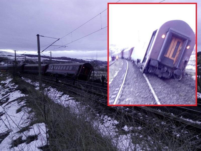 Două trenuri deraiate în aceeaşi zi: trenul de călători Bucureşti-Arad şi unul de marfă (FOTO)
