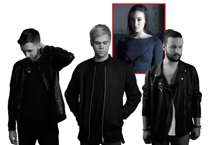 TRIO ÎN... PATRU. Huszár Csongor (mijloc), Döbröndi Lóránt (stânga) şi Lengyel Levente (dreapta) au fondat WHODO vara trecută, în august, iar luna trecută au lansat primul lor videoclip, filmat în Oradea, având protagonistă încă o concitadină, pe multipla campioană la dans Bonni Bogya