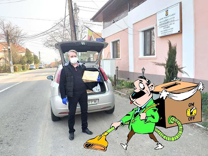 Ödön cel viteaz: Şeful executiv al UDMR Bihor bate judeţul ca să împartă electoratului... formulare