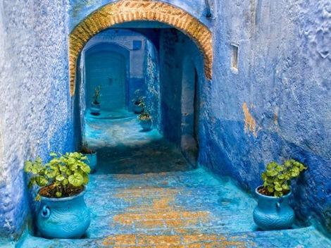 Un oraş din Maroc este în totalitate albastru (FOTO)