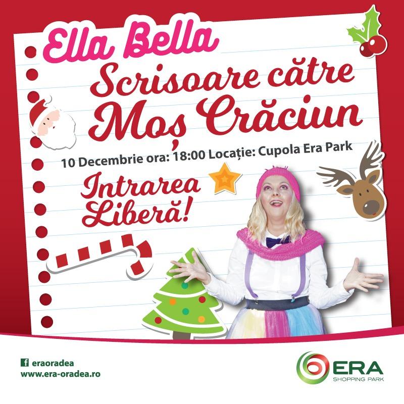 Scrisoare către Moș Crăciun. Ella Bella își invită prietenii la o petrecere magică