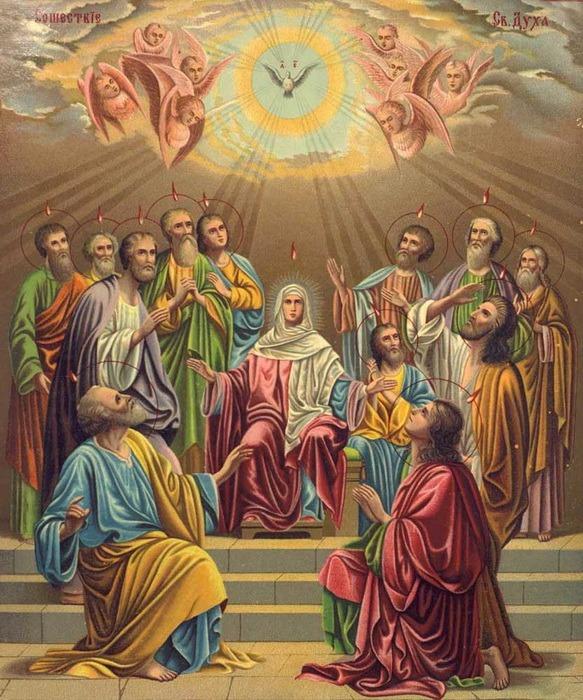 Creştinii sărbătoresc Rusaliile sau Pogorârea Sfântului Duh, ziua în care a luat fiinţă prima comunitate creştină
