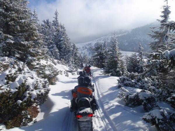 """Iarna """"extremă"""": bihorenii caută senzaţii tari pe snowboard, snowmobil ori la off-road (FOTO)"""