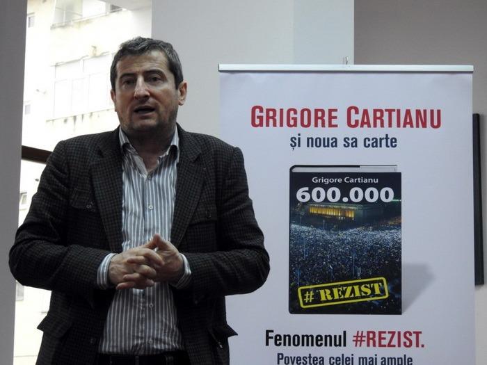 Grigore Cartianu lansează la Oradea volumul 600.000 cu povestea fenomenului #Rezist