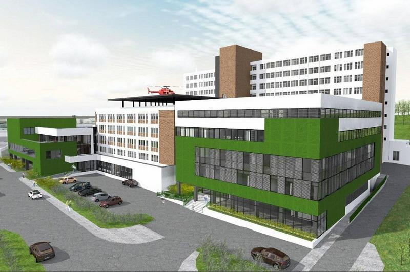 Aşa va arăta viitoarea clădire a ambulatoriului Spitalului Judeţean (sursa foto: Facebook, Ilie Bolojan)
