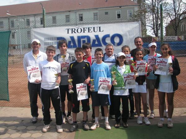 Bihorenii au dominat ediţia a VIII-a a Trofeului Damaco la tenis