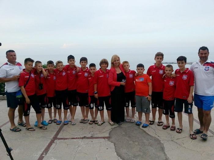 Tinerii fotbaliști ai clubului FC Bihor au ocupat locul V la Cupa Hagi - Danone