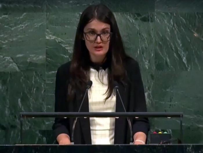 O orădeancă a vorbit la ONU despre spaţiile verzi din oraşul ei natal (FOTO)