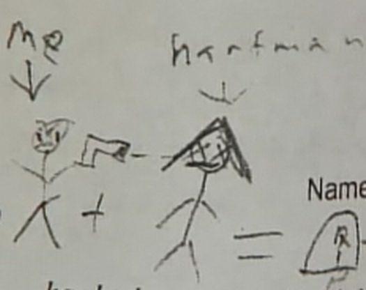 Aşa arată desenul care i-a adus copilului de 14 ani acuzaţia de proferarea unor ameninţări teroriste