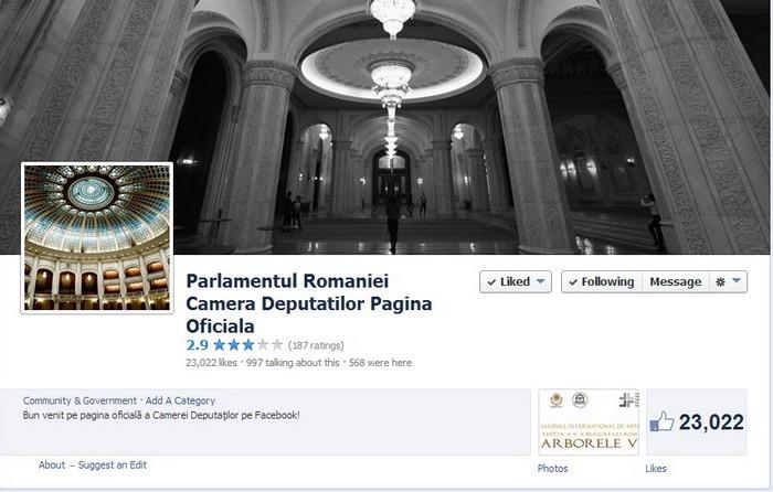 Camera Deputaţilor are 13 funcţionari plătiţi să stea pe Facebook