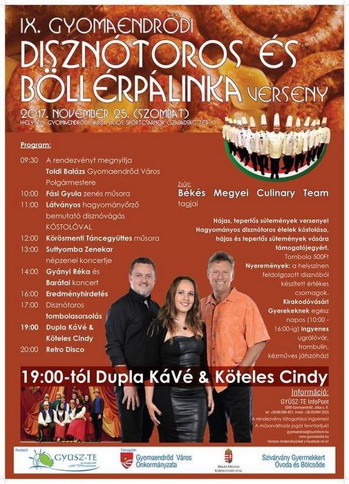2 în 1, la Gyomaendrőd: Bihorenii, invitaţi la Festivalul Pomana Porcului şi Festivalul Pălincii Böllér