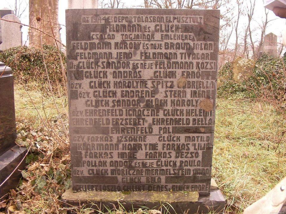 În cimitirul evreiesc din Valea lui Mihai a fost ridicat un monument funerar în amintirea celor care au murit în timpul Holocaustului foto credit: szombat.org