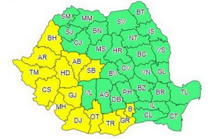 Căldură mare! Cod galben de caniculă, luni şi marţi, în Bihor