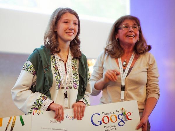 O elevă de clasa a VIII-a a realizat logo-ul Google pentru 1 Decembrie