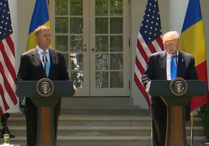 Trump, către Iohannis, la Casa Albă: Aplaud eforturile curajoase în lupta împotriva corupţiei şi pentru apărarea statului de drept (VIDEO)