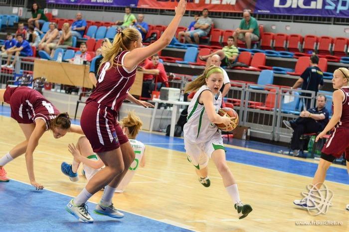 Campionatul European de baschet feminin U18 - Divizia B, de la Oradea şi Timişoara, şi-a încheiat prima fază a grupelor