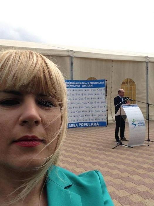 Elena Udrea, selfie cu Traian Băsescu