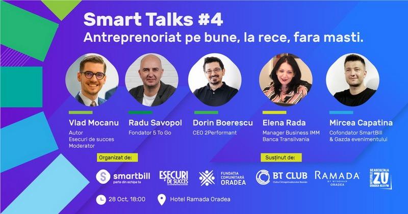Mai mulţi antreprenori le vorbesc orădenilor la Smart Talks