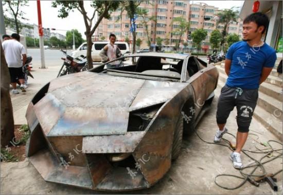 Chiar pot să reproducă orice: Un chinez şi-a făcut singur un Lamborghini