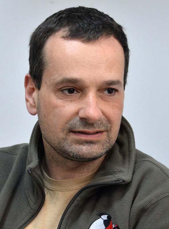 Nagy Attila, specialist în ornitologie şi angajat al asociaţiei Milvus Group