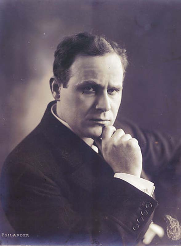 cel mai cunoscut actor european ddin 1914, danezul Valdemar Psilander