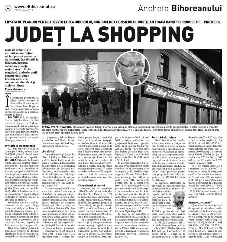 facsimil articol Județ la Shopping