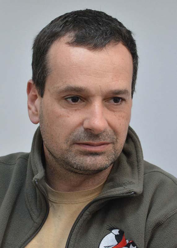 ornitologul Nagy Attila, de la asociaţia Milvus Group
