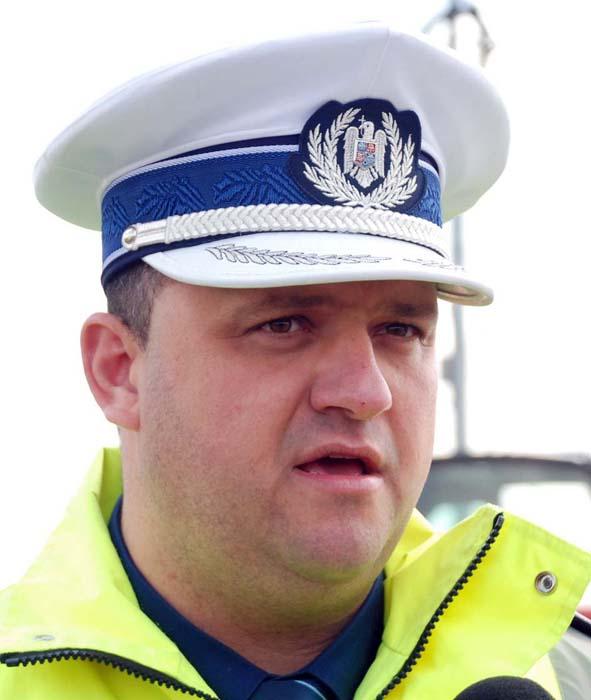 subcomisarul Alin Gherman, şeful Biroului Rutier Oradea.