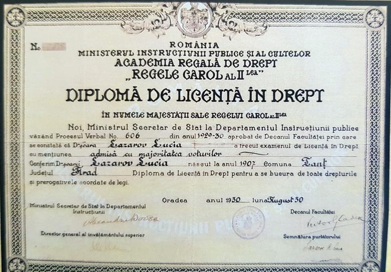 Diplomă Academia Regală
