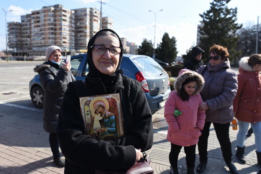 Dana Hodișan, protestatar anti mască Oradea