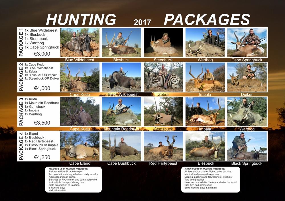 Preţuri hunting safari