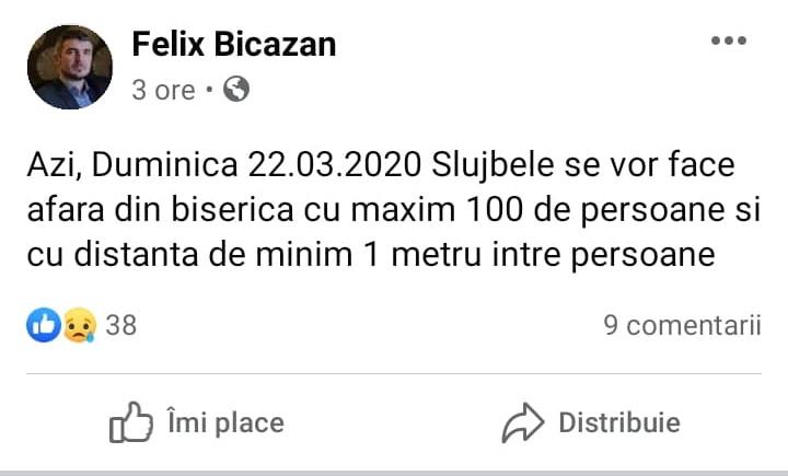 Preot Felix Bicăzan