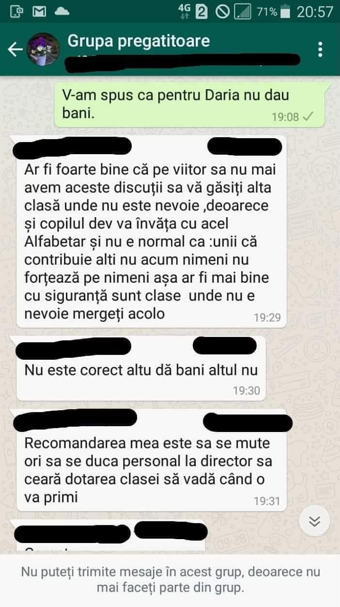 Conversaţie WhatsApp