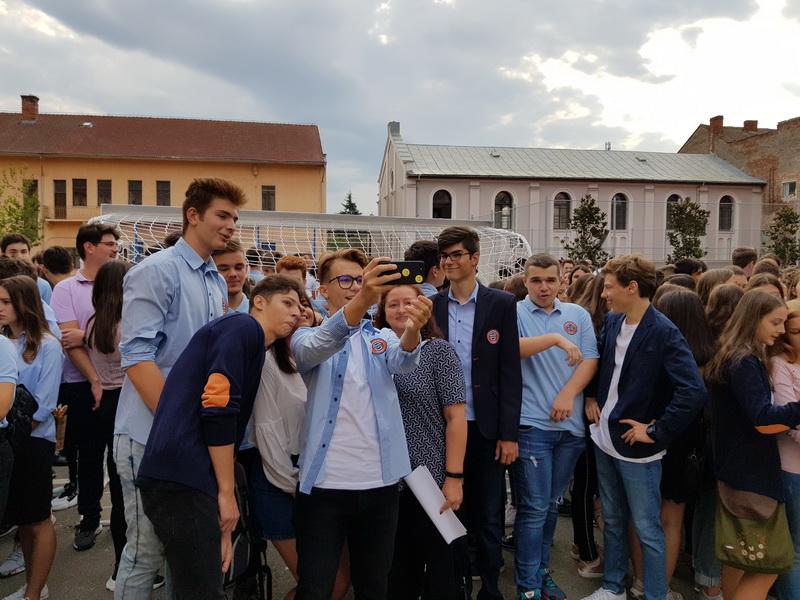 Selfie la Colegiul Gojdu