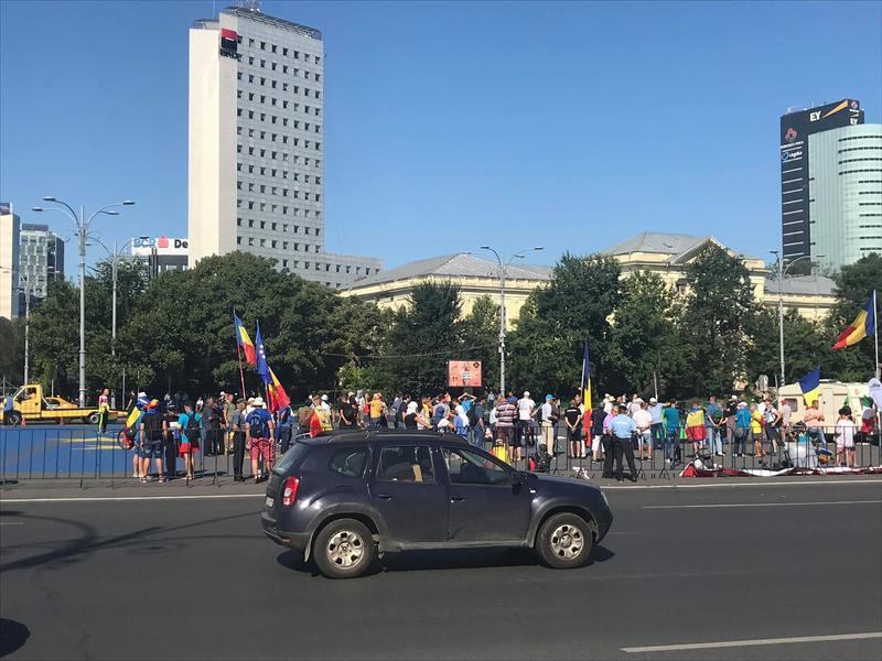 miting Diaspora în București. Sursa foto: Hotnews.ro