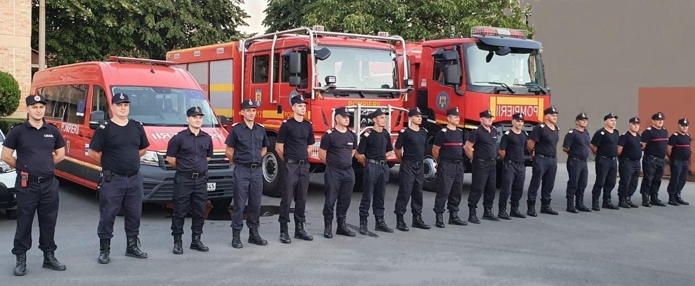 Pompierii bihoreni plecați în misiunea din Grecia