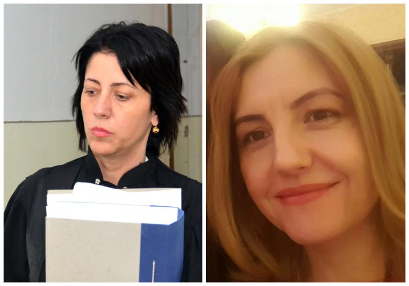 Judecătoarele Laura Soane (stânga) şi Adina Cioflan (dreapta)